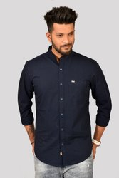 Casual Threads Pure Cotton Navy Plain Shirt