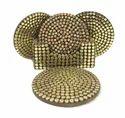 Gold Brass Coaster Set Corporate Gift Item Tea Coaster Home Decor Drink Holder