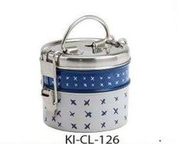 Stainless Steel Designer Printed Clip/Wire Lunch Box