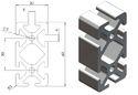 Aluminum Profile 30 x 60