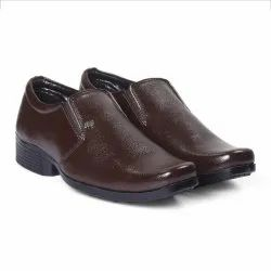 Mens Synthetic Leather Brown Formal Shoes, Size: 6 - 10