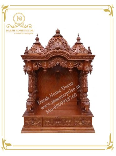 Designer Wooden Temple Design for Home