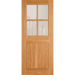 Trendy Wooden Glass Door