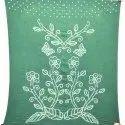 All Green Color Cotton Bandhani Kurti