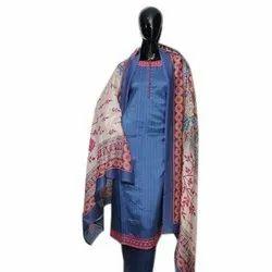 Ladies Unstitched Cotton Printed Suit, Handwash