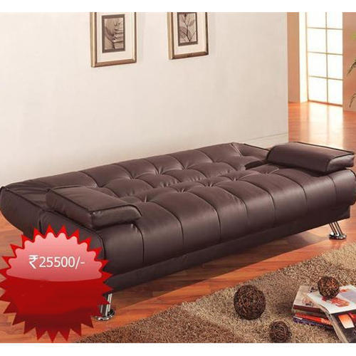 Leather Brown Sofa Bed