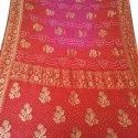 Casual Wear Printed Cotton Casual Bandhani Saree, Length: 5.5 M Separate Blouse Piece