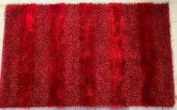 Madia Rectangular Polyester Hand Woven Panja Rugs, For Floor