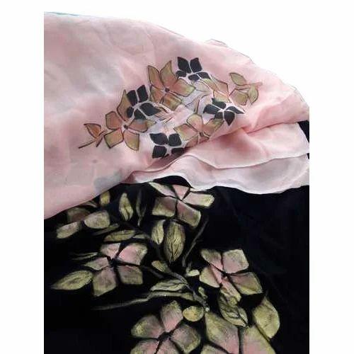 fbc1e0506b Ladies Cotton Brush Paint Blocked Unstitched Suit, Rs 2500 /piece ...
