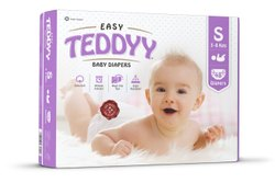 Teddyy Easy Diapers s 48pcs, Size: Small, Age Group: 3-12 Months
