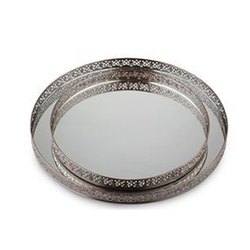Silver DHC Glass Platter