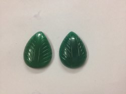 Green Onyx  Pear Shape Carving, Handmade Carved Fancy Calibrated Loose Gemstone Pairing Set