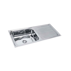 Single Bowl Stainless Steel Drain Board Sink