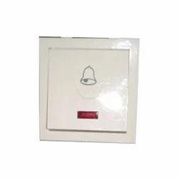 Aasish White Bell Switch, 220 V
