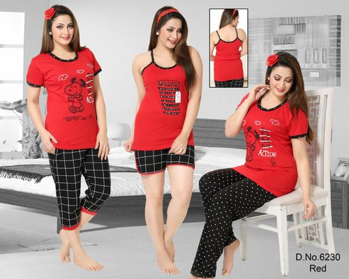 bf92b6b1a5 Re Women 5psc Cotton Combo Night Suit, Rs 1050 /pair, Bhavya Fashion ...