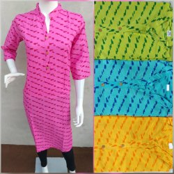 Girl Stitched Ladies Printed Kurta