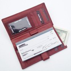 Cheque Book Cover With Card Holder