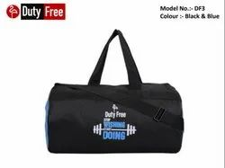 Black & Blue Gym Bag