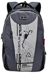 Grey 3 Compartment Large School Bag