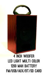 Creta Wireless Rechargeable Bluetooth Speaker Wooden