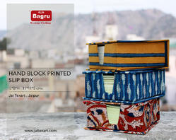 Block Printed Slip Box