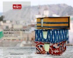 Block Printed Slip Box