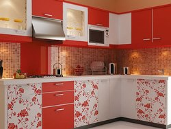 Modern L Shape Modular Kitchen