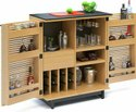 Wooden Brown Bar Cabinet, Size: 2l X 3h Feet