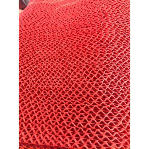 Red Floor Rubber Door Mat