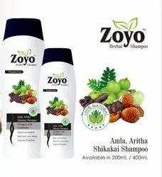 Amla, Aritha & Shikakai  Zoyo Herbal Shampoo, For Personal, Pack Size: 200 Ml