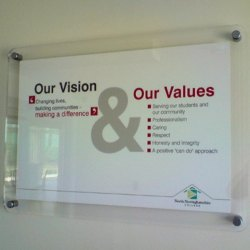 Acrylic Sandwich Display Board