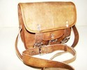 Buckle Closure Leather Saddle Bag