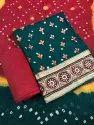 Fancy Lace Border Work Unstitched Salwar Suit
