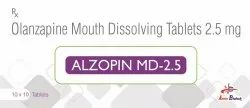 Olanzapine 2.5mg Mouth Dissolving Tablets