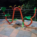 Orange, Green Outdoor Gym Cycle