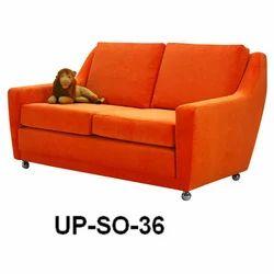 Two Seater Orange Sofa