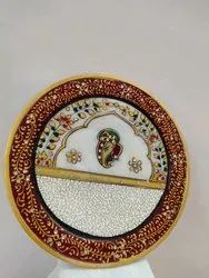 Multicolor Handicraft Marble Plates, For Decoration