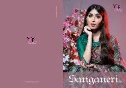 Sanganeri Silk Tanchui Art Silk Saree