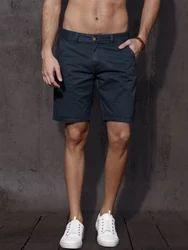 Stylish Blue Cotton Shorts