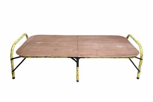 Ply and Metal Brown Folding- Plywood Bed, Size: 3x6 Ft ...