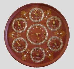 Clay Adorning Wall Clock