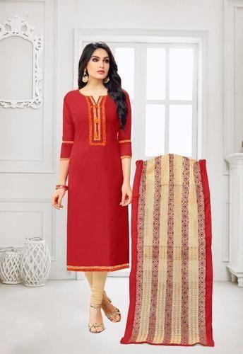 861b8fdaf5 Heavy Chanderi Party Wear Suits Banarasi Dupatta, Rs 625 /piece | ID ...