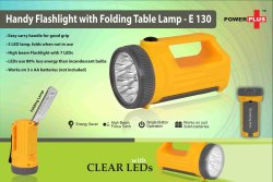 E130 - Handy Flashlight With Folding Table Lamp