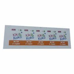 Multicolor Garment Brand Tag