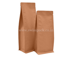 Flat Bottom Pouch No Zipper (Brown Paper Bags)
