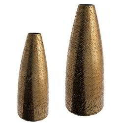 Gold Hammered Vases Set of 100