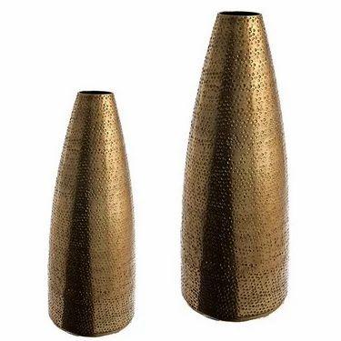 Gold Vase Hammered Vases Minsa Collection Moradabad