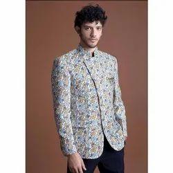 Party Mens Printed Jodhpuri Suit