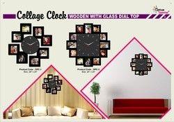 Wooden Collage Clocks