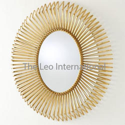 Golden Luxury Class Designer Metal Mirror Finish For Wall Decor